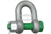 Green Pin Standard Shackles – dee shackles with safety bolt code G-4153