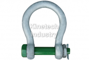 Green Pin Wide Mouth Towing Shackles – bow shackles with safety bolt code G-4263