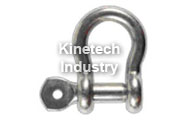 Stainless steel bow shackle with screw pin type MLVI